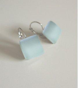 Green sand earrings