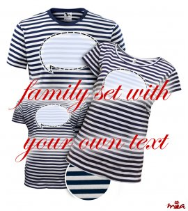 Blue striped - with own text