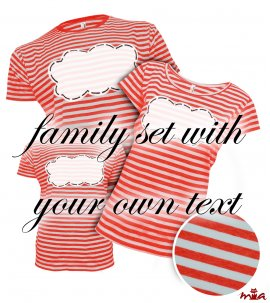 Red striped - with own text